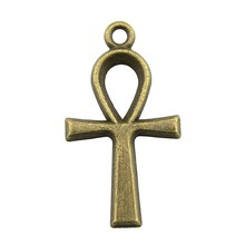 10pcs Charm Ankh Cross Vintage Cross Ankh Charms Pendant For Jewelry Making Antique Bronze Color Ankh Cross Charms 14x26mm