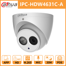 Dahua cctv ip-камера наблюдения DH IPC-HDW4631C-A Встроенный микрофон POE, купольная камера безопасности IR30M металлический корпус Onvif Замена IPC-HDW4431C-A
