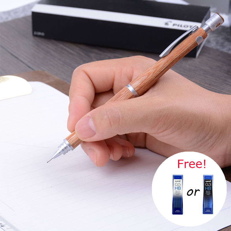 PILOT S20 High-end Mechanical Pencils 0.3mm/0.5mm Hippo Wood Low Gravity for Drawing with Free 1 Barrel 0.3/0.5mm HB Leads ванна okt hippo 1 м 8437 фиолетовый