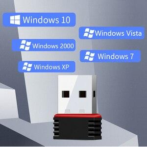 Image 5 - Mới Mini 802.11n/G/B Wifi 2.4 GHz ~ 2.4835 Ghz Không Dây 150Mbps USB Dongle dành Cho Laptop Máy Tính Windows 7/10/XP/Vista