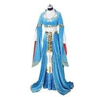2017 The Legend of Zelda Breath Wild Princess Csoplay Costume