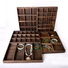 Деревянный поднос для ювелирных изделий органайзер серьги браслеты