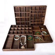 New Arrival Wooden Jewelry Tray Jewellery Organizer Bangle Earrings Bracelets Choker Necklaces Pendants Storage Vintage Plate(China)