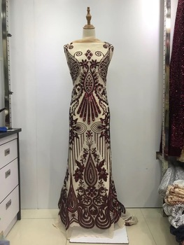 African Lace Fabric 2019 High Quality Lace White Nigerian Lace Fabrics With Sequin Lace Trim For African Parties JL133