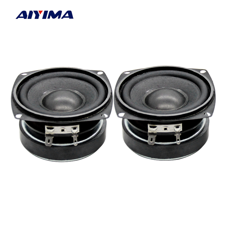 Aiyima 2PC 3Inch Audio Speaker 78MM 8Ohm 30W Bass Multimedia Speakers Mini Magnetic Loudspeaker For Audio Amplifier DIY