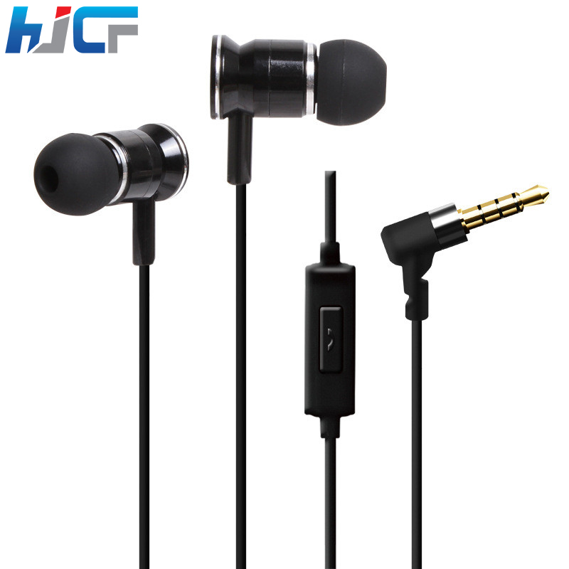 Fashion Metal Earphone 3.5mm Stereo Bass Earphones In-Ear Earbuds With Microphone Handsfree For Mobile Phones Computers HST51 kst x2 in ear stereo earphone with metal earbuds