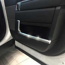 цена на 4pcs/set Car Interior Accessories Side Door Molding Trim For Land Rover Range Rover Sport 2014 2015 2016 2017 Styling ABS Chrome