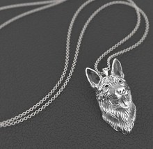 Drop shipping German shepherd necklace dog pendant Animal series jewelry for pet lovers(China)