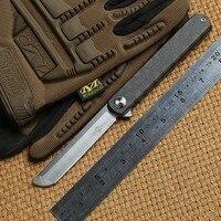 TWO SUN TS67 D2 blade Flipper ball brearing folding knife titanium camping hunting Pocket knives outdoor gear Survival EDC Tools