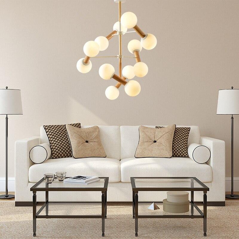 Lights & Lighting Modern Led Luminaires Wooden Chandelier Loft Lighting Novelty Fixtures Nordic Hanging Lights Living Room Pendant Lamps Ceiling Lights & Fans