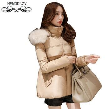 Winter Women Cloak Short Cotton Jacket 2017 Hooded Fur collar Cloak Cotton Jacket Women Coat casacos de inverno feminino  LS255