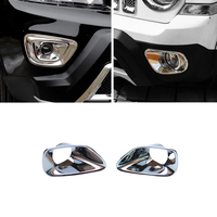 JEAZEA High Quality Car Styling Accessories ABS Chrome Front Fog Light Lamp Cover Trim For Jeep