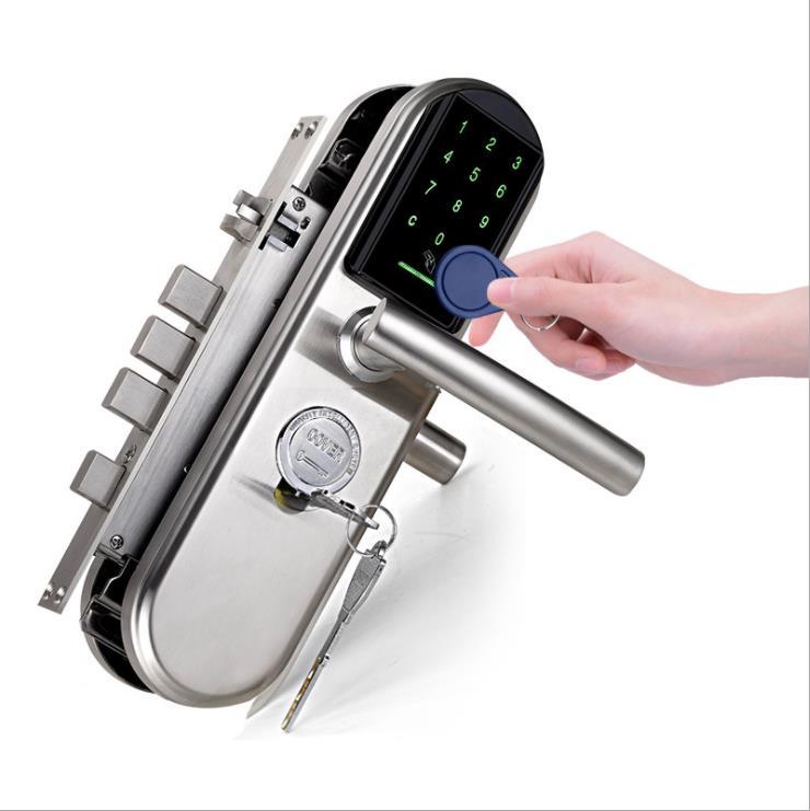 Serrure de porte intelligente électronique numérique Inteligente carte mot de passe bouton porte de sécurité maison bureau serrure Anti-thelf serrure de porte