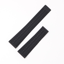 CARLYWET 22mm Black Waterproof Silicone Rubber Replacement Wrist Watch Band Strap Without Buckle стоимость