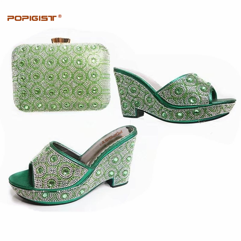 Green African Shoes and Matching Bags Italian African ...