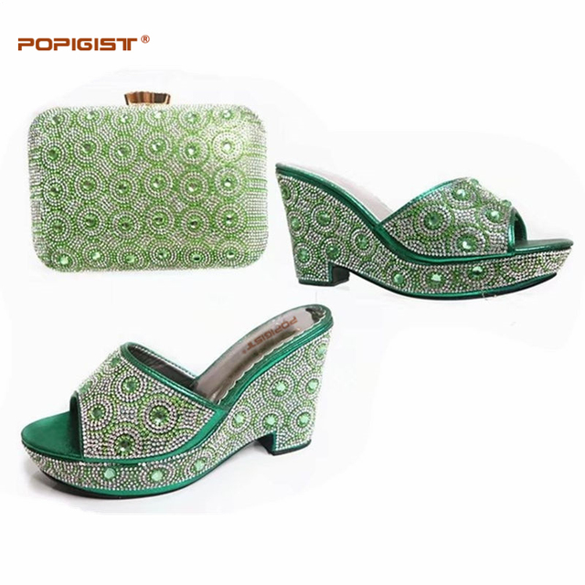 Green African Shoeatching Bags Italian Wedding Shoe And Bag To Match For Parties