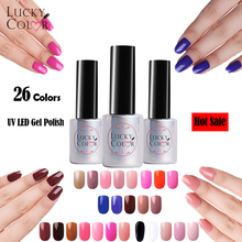 26 Colors Available Gel Varnish High Quality Soak Off UV Gel Nail Polish For Beauty Nail Art Tools 1 Bottle 10ml