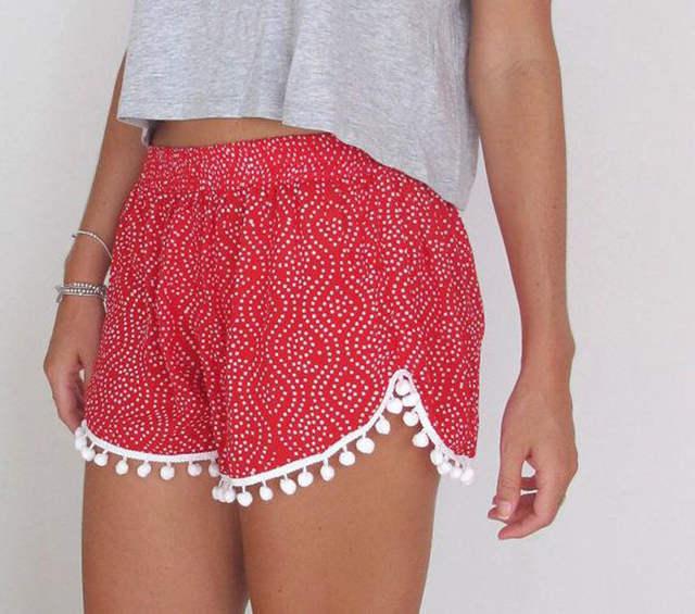 Hot Moda Mulheres Sexy lady Verão Casual Shorts de Cintura Alta Short de  Praia 037787bdec8ec