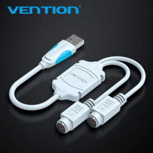 Vention USB to PS2 Converter Cable USB Male to PS/2 Female Adapter USB Extension Cable For Keyboard Mouse Scanner PS2 USB Cable