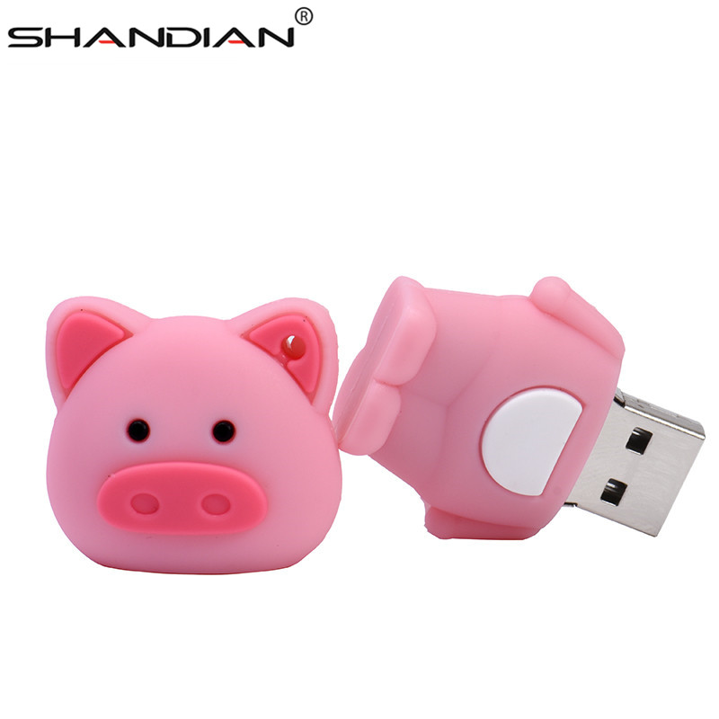 Image 3 - SHANDIAN Pen Drive Cartoon Pink Pig Pendrive 4GB 8GB 16GB 32GB 64GB Usb Flash Drive USB 2.0 Flash Memory Stick Disk on key Gift-in USB Flash Drives from Computer & Office