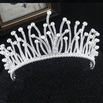 Diverse Silver Gold Crystal Crown Bride Tiara For Wedding 4
