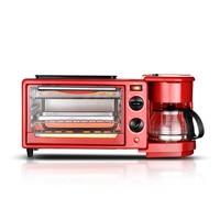 Triple Breakfast Machine Household Toaster Electric Oven Frying Pan Make Coffee Barbecue Machine Triple