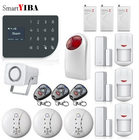 SmartYIBA 433mhz Wireless Remote Control WIFI Home Security Alarm System Home Office Factory GSM Wireless Alarma Kits