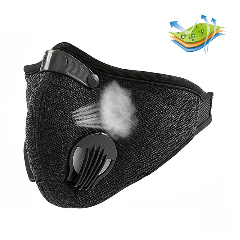2018 Anti Dust Training Mask Cycling Masks With Filter Half Face Carbon Mountain Bicycle Sport Road Cycling Masks Face Cover outdoor cycling half face mask dust windproof anti pollen allergy activated carbon masks filter sports riding running lcc
