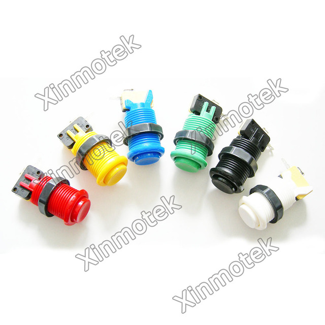 10PCS of American Style Push Button /HAPP Push Button /  Arcade Game Machine Accessories / JAMMA MAME