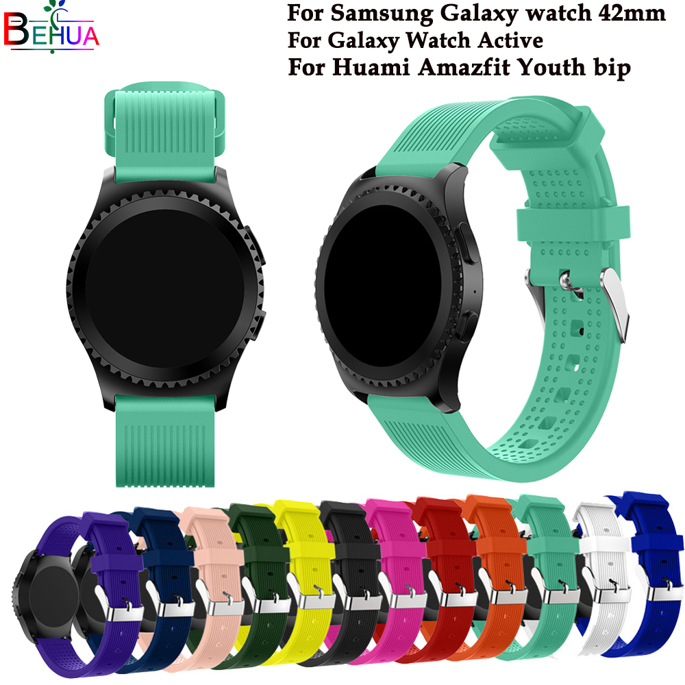 silicone sport watch band For Samsung Gear S2 732 Gear spOrt watch For Smasung Galaxy 42mm For samsung Galaxy Watch Active strap