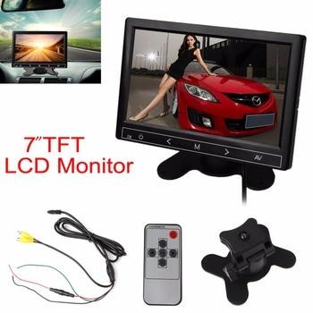 7 inç TFT LCD Renkli Araç Dikiz Monitör DVD VCR Ters için geri görüş kamerası Kamyon Otobüs park kamerası Monitör Sistemi