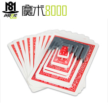 Funny Shrinking Cards Magic Tricks Big To Small Playing Card Training Set For Party Stage Performance Illusion Mentalism Props