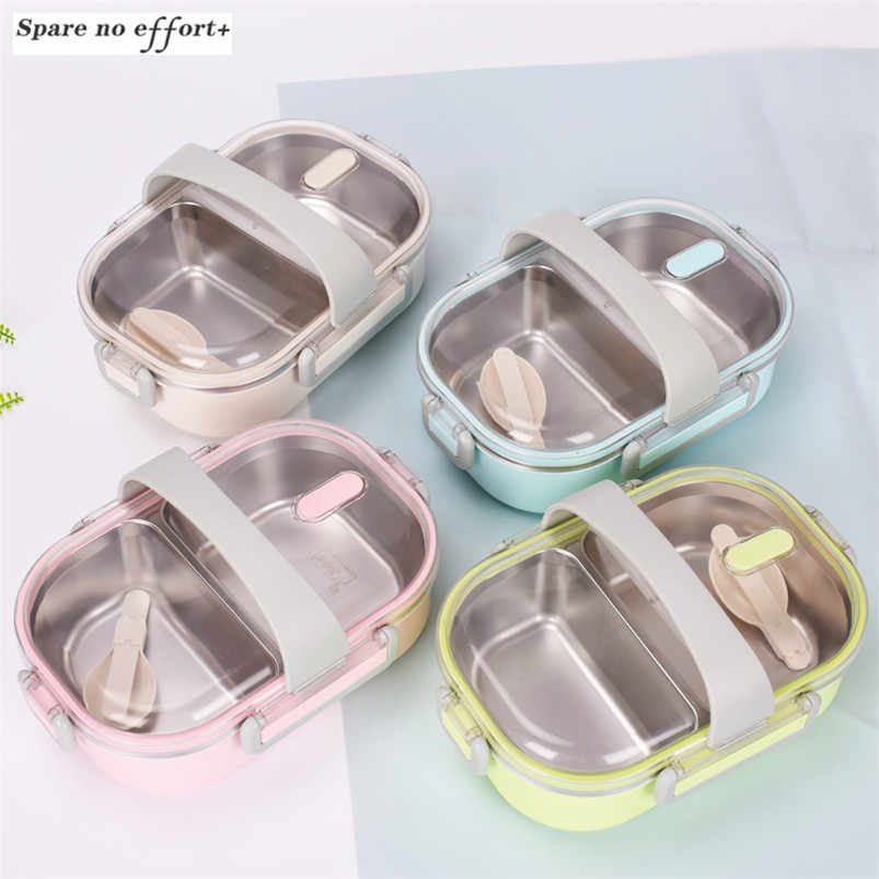 Stainless Steel Insulated Lunch Box Children's Bowl Bento Box Baby Tableware Dinnerware Portable Lunch Box Food Container