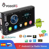 Podofo 7 ''Android Auto Radio Stereo GPS Navigation Bluetooth USB SD 2 Din Touch Auto Multimedia-Player Audio-Player autoradio