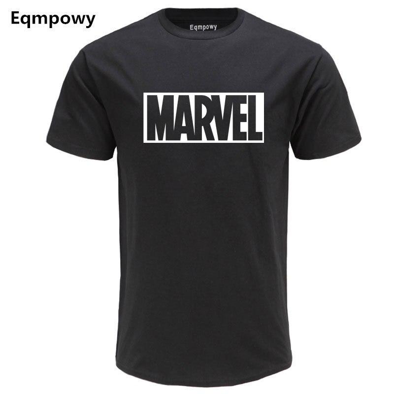 2019 Nouvelle Mode MARVEL T-Shirt Hommes Coton Manches Courtes Casual Male T-Shirt Marvel T Shirts Hommes Tops T-shirts Livraiso