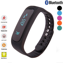 HQ Waterproof Bluetooth Smart Bracelet E02 wristband Health fitness tracker Sport Smartband Watch For IOS Android with box