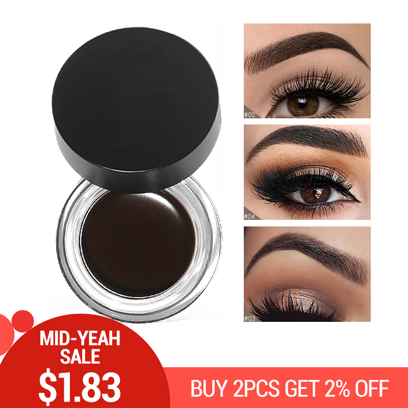 717ec3d012d New Brand Professional 5 Colors Eyebrows Tint Makeup Waterproof Pomade Gel  Long lasting 3D Natural Brown