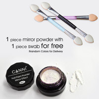 #61603 CANNI Nail Art Professional Metal Polish Manicure Mirror Chrome Effect Chameleon dipping Powder Pigment Powder With Brush