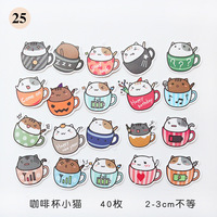 1Pcs/Sell Coffee Cup Kitten Notebook Pack Posted It Kawaii Planner Scrapbooking Stickers Stationery Escolar School Supplies Gel Pens