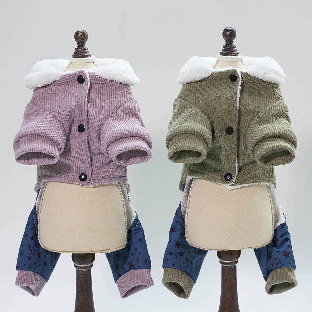 New Cotton Coat Pet Dog Clothes Winter French Bulldog Dog Clothes For Small Dogs Warm Outfit Pugs Clothing For Chihuahua Roupa in Dog Down Parkas from Home Garden