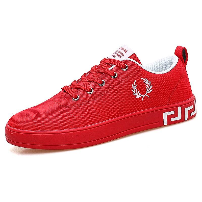 Изысканный Для мужчин обувь 2018 новые летние Парусиновая обувь высокого качества Молодежные повседневные туфли, красный трендовая обувь. па... ...