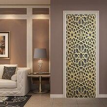 77*200 см Золотой благородный выдолбленный геометрический моделирующий масляной краской стикер стены обои двери стикер s домашний декор