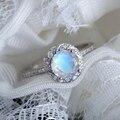 Женское кольцо с лунным камнем, серебряное винтажное обручальное кольцо, свадебное украшение, Подарок на годовщину