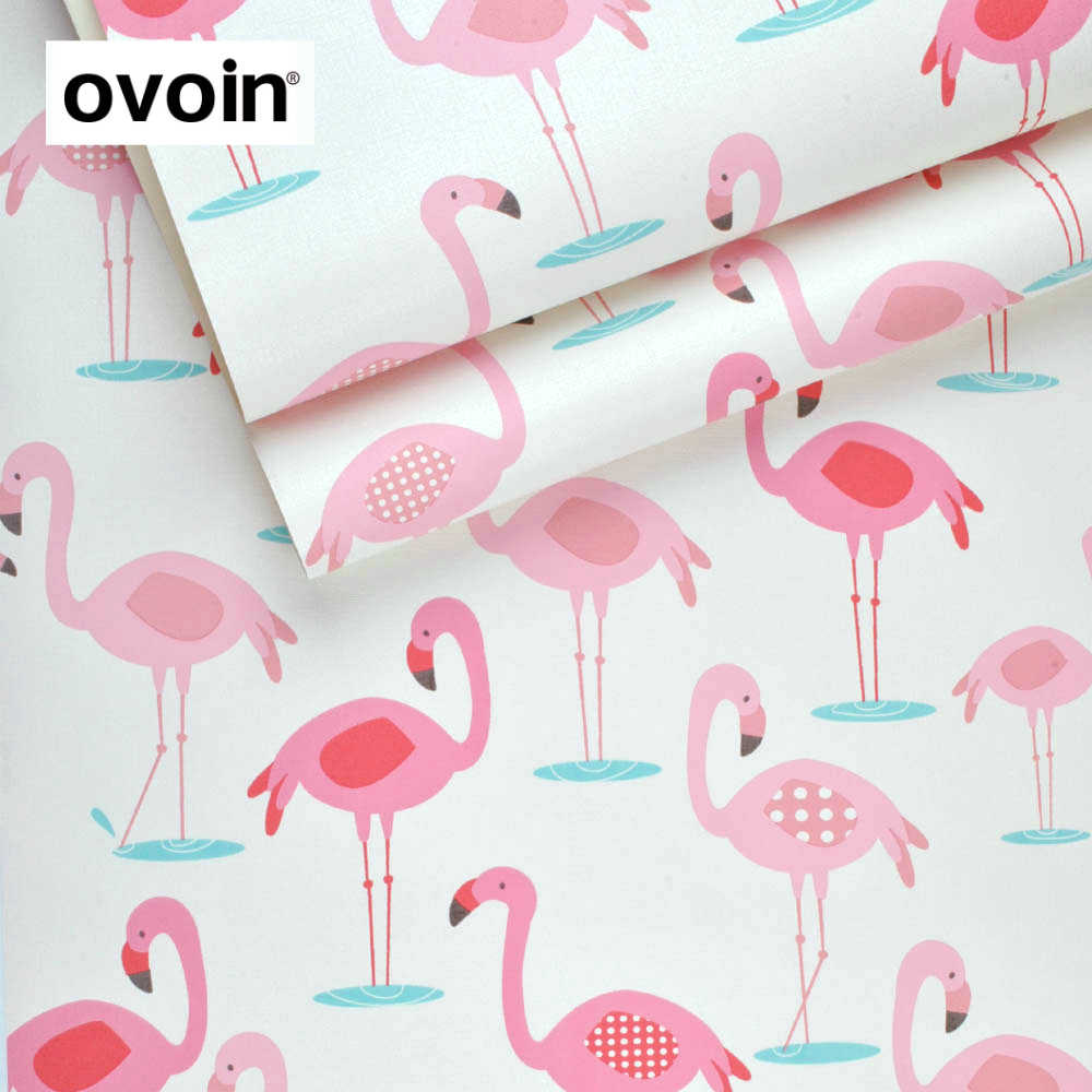 Pink And White Flamingo Bird Wallpapers Roll Romantic Baby
