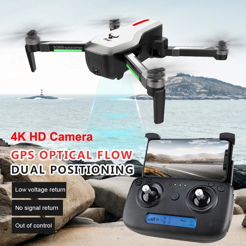 2019 SG906 Drone With Camera HD Wide-Angle Lens 4K Quadrocopter For Sale Foldable Drone Real Time FPV Quadcopter RC Helicopte image