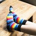 O outono e inverno do novo meias de algodão feminino meias Moda em ms íris meias par