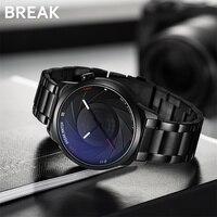 BREAK Photographer Series Stainless Strap Unique Creative Camera Style Men Women Casual Quartz Sport Analog Dress Wrist Watch