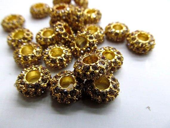 Großhandel 5x12mm 100 stücke rondelle strass kristall perle silber gold gunmetal grau sortiment schmuck perlen - 5