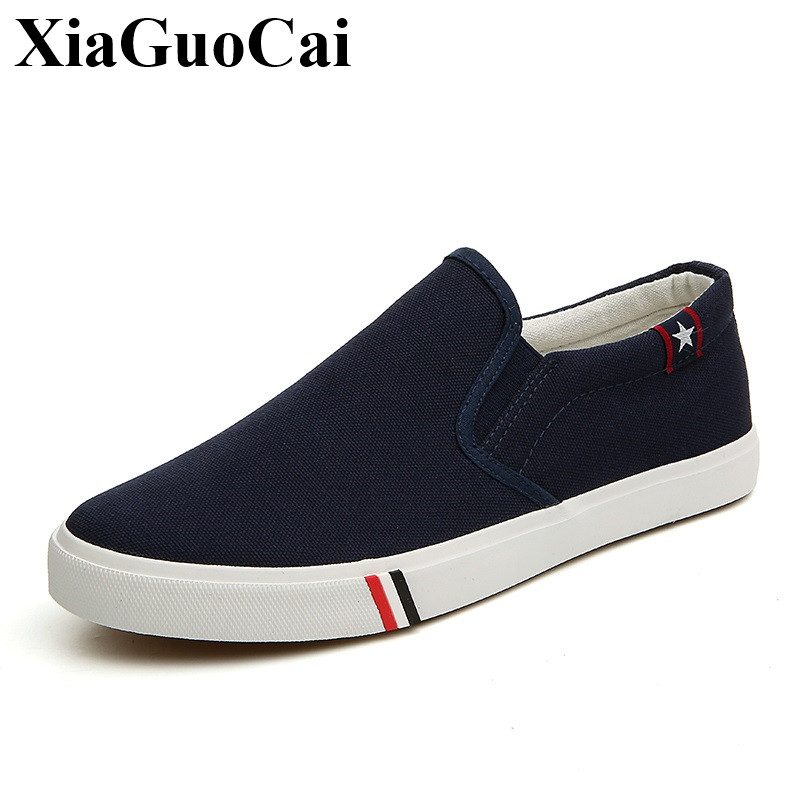 Summer Casual Shoes Men Loafers Fashion Slip-on Flats Shoes Men Breathable Canvas Shoes Hard-Wearing Footwear H46 25 bexzxed summer slip on men leather shoes fashion design breathable flats men loafers comfort round toe shoes men footwear