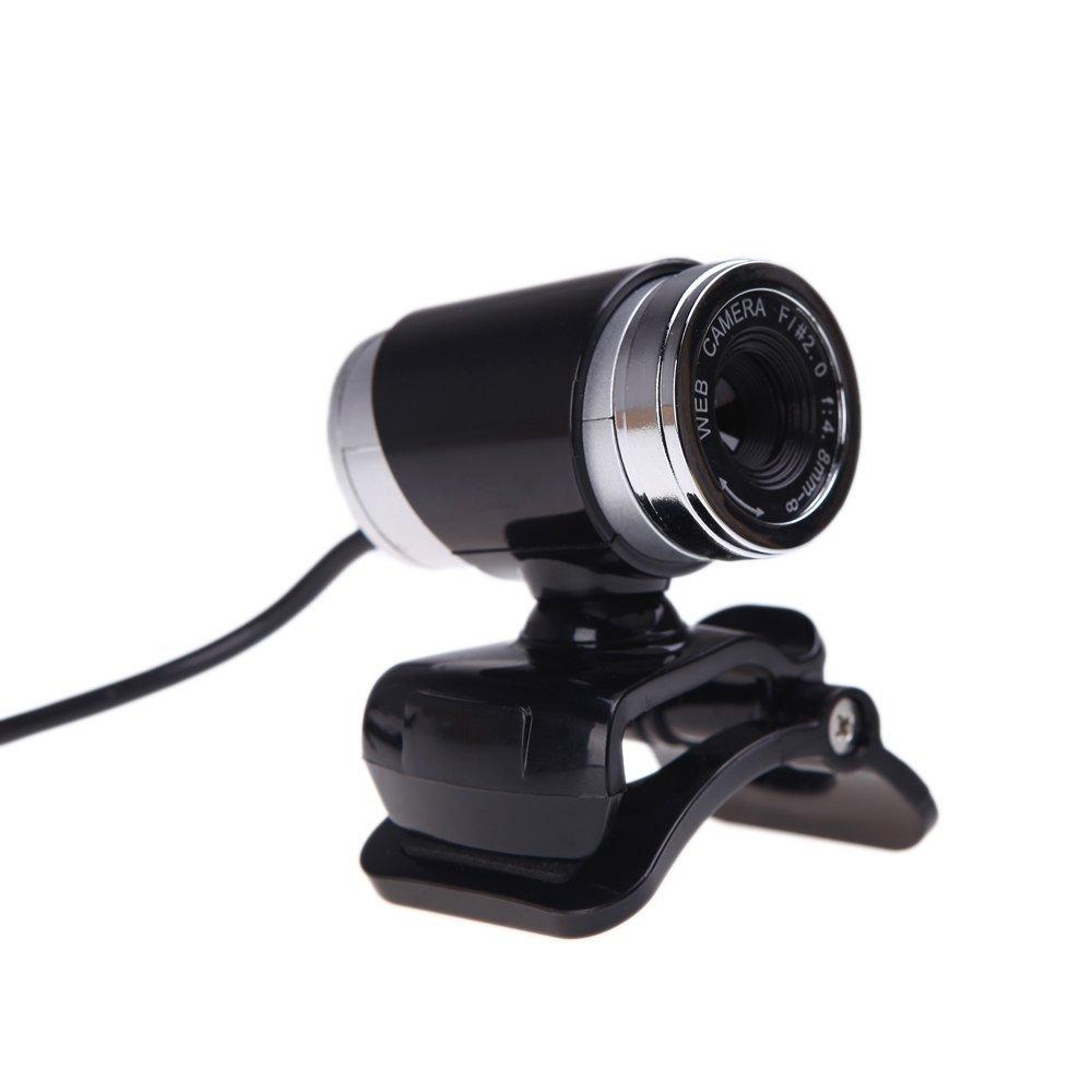 CAA-USB 2.0 12 Megapixel HD Camera Web Cam with MIC Clip-on 360 Degree for Desktop Skype Computer PC Laptop Black